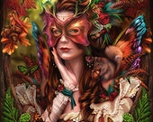Autumn Queen Fairy - signed art print - Brigid Ashwood
