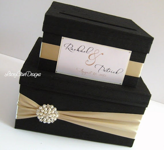 Wedding Gift Cards For Money : Wedding Gift Card Money Box Custom Made by LaceyClaireDesigns
