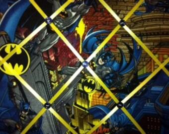 Batman Dark Knight Fabric Photo Memory Board