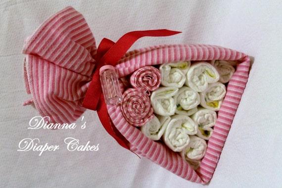 Stork Bundle Girls Peppermint Kisses Baby Shower Gift Newborn Present