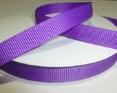 "Purple 3/8"" Grosgrain Ribbon - 25 Yards - Wholesale Ribbon - Ribbon for Alligator Hair Clips - Purple Ribbon"
