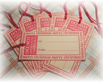 Do Not Open Until Christmas tags (6)