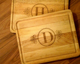 Monogrammed - Initial - Cutting board -- Any style just for you 15 x 12