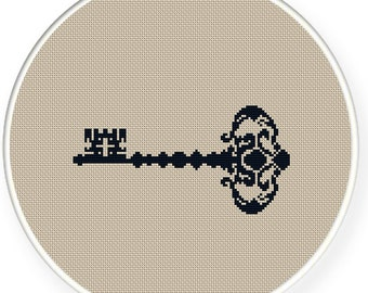 Instant download,free shipping,Cross stitch pattern, Cross-Stitch PDF,vintage key,zxxc0340