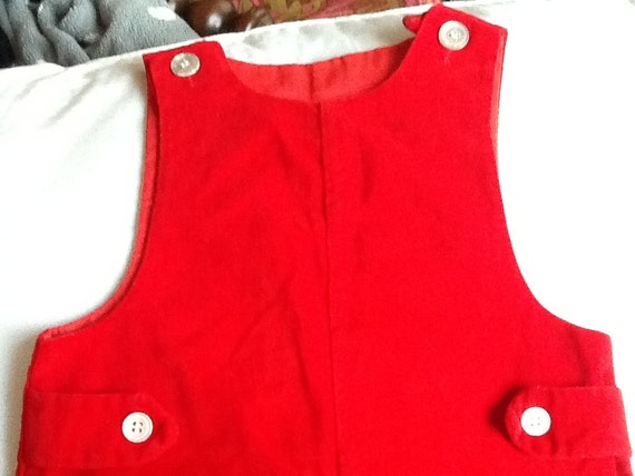SALE Vintage Boy's Red Velvet Jumper Toddler 4T Christmas