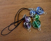 Choice of One Beaded Wire Wrapped Phone Charm