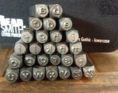 6mm Lowercase Block Arial Font Steel Stamp Set