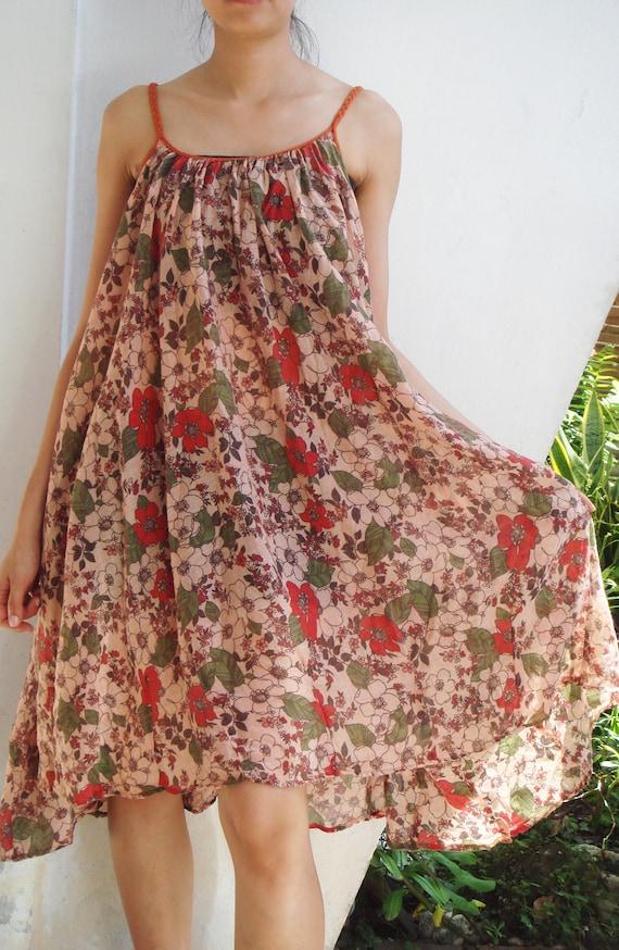 Orange Dress, Cotton Dress, Queen Elizabeth Garden, Flower dress, Floral dress, Summer, Mandarin Orange, Maternity,Orange Cotton Dress