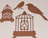Bird Cage and Bird Die Cuts Spellbinders Bird Sanctuary Grand Calibur Set of 4 Scrapbooking Cardmaking