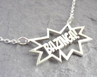 Bazinga Sterling silver handmade Pendant