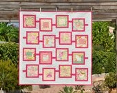 Baby Quilt or Playing Mat : Mint Meets Pink - ready to ship