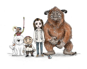 Labyrinth - The Good Guys - 5x7 Illustration Print