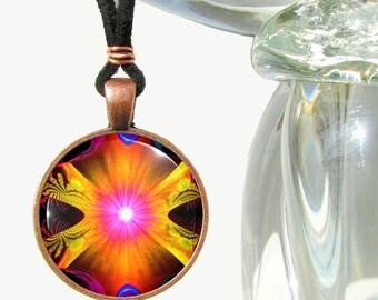 Chakra Jewelry, Kundalini Energy Art, Reiki Necklace Yoga Jewelry