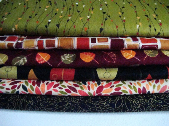Nutmeg Fall Fabric by Robert Kaufman Half Yard Set of 2