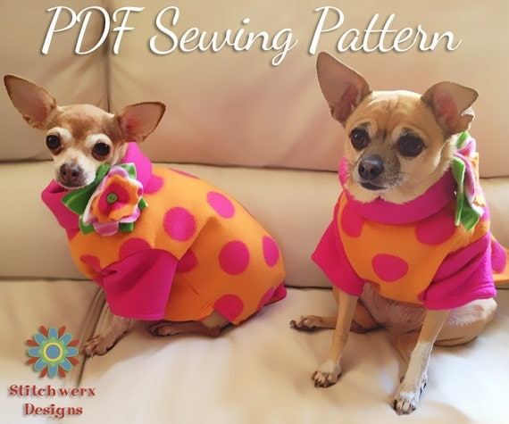DOG CLOTHES Pattern, Small Dog Pattern, Dog Sewing Pattern, Dog Shirt Pattern, PDF Pattern, Sew Dog Clothes, Dog Shirt Pattern