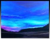 "landscape painting Title: Red light ( 24""x30'' x1.5'' ) DanielBrunosArts"