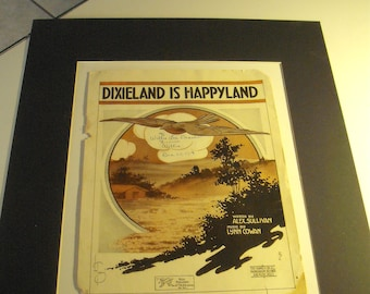 Old South' Dixieland is Happyland', Music sheets
