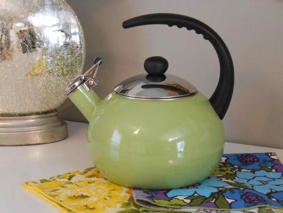 Mod Faberware Teapot Teakettle Retro Green