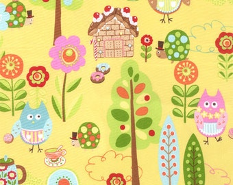 Cherry On Top - Sweet Critters in Banana by Keiki for Moda Fabrics