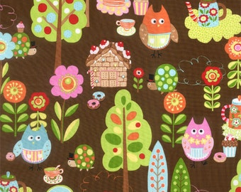 Cherry On Top - Sweet Critters in Chocolate by Keiki for Moda Fabrics