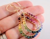 Reserved - Custom Rainbow Earrings in Sterling Silver - Deposit #1
