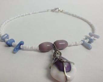 Purple Cowry  Anklet