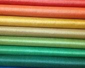 Pure Silk Fabric. Ahimsa Silks. Organic silk. Fat Quarter Set. Peace Silk. Sheer, translucent silk.  Select any 4 from the AUTUMN DAY