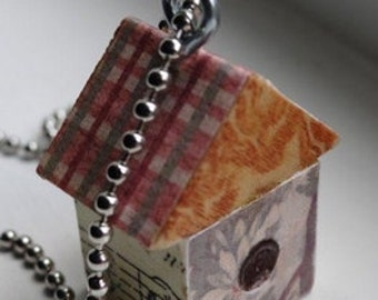 Birdhouse Pendant Necklace