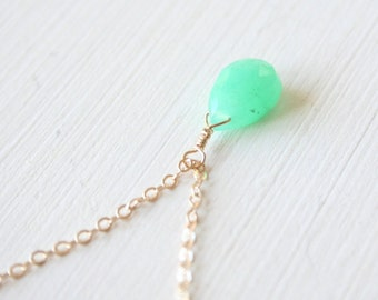 The Sea's Mist  / 14K Gold Filled Necklace / simple everyday delicate dainty jewelry