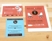 DIY printable- Eames wedding invitation set