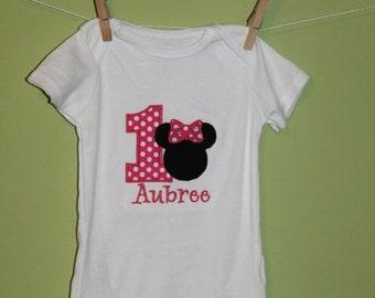 Minnie Mouse- 1st birthday shirt