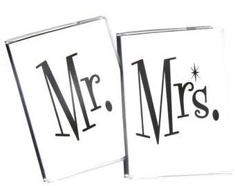 PASSPORT COVERS - Mr. and Mrs. - Set of 2. Passport Holder, Passport Case, Couple Gift, Bride and Groom, Wedding Gift, Wedding Shower Gift