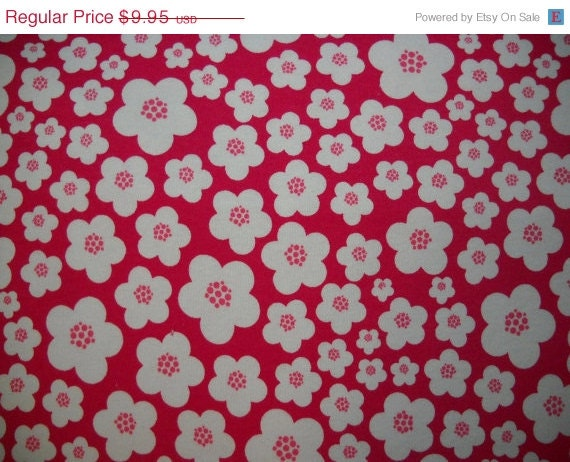 On Sale Blossoms-Pink-Patty Young-Knit Fabric-Karen's Fabric on etsy