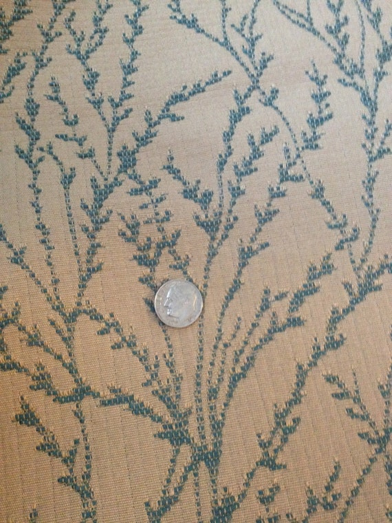 teal branch home decor fabric by yard by windowsbymelissa on etsy