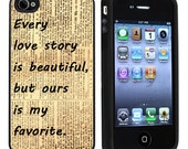Vintage Love Story Apple iPhone 4 or 4s Case / Cover Verizon or At&T