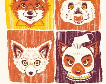 "Fantastic Mr Fox 8x10"" Art Print"