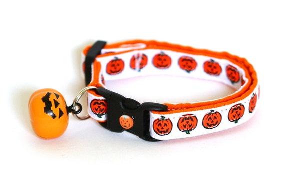 Halloween Cat Collar - Jack-O-Lanterns - Small Cat / Kitten Size
