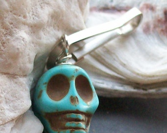 Sugar Skull Zipper Charm