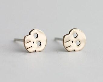 14kg Skull Earrings
