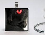 Black Cats, 4 Choices, Handmade, Pendant, Cat Lovers, Cat Jewelry, Altered Art, Photo Pendant, USA
