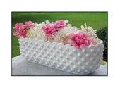 Hobnail Milk Glass Planter / Cottage Chic / Milk Glass Wedding Centerpiece