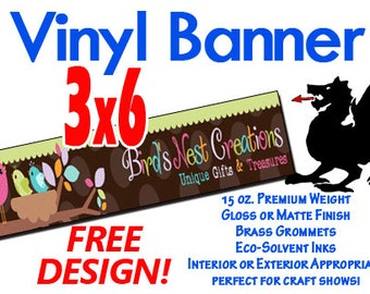 3x6 Custom Designed and Printed Vinyl Banner GREAT 4 CRAFT SHOWS