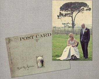 """Wedding Thank You Cards, Thank You Note Cards, Vintage cards, Thank you card, Vintage thank you card - the """"Nyah"""""""