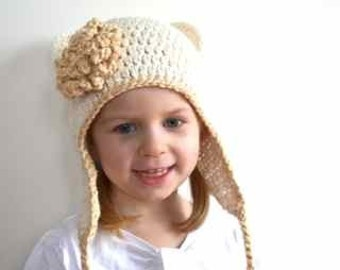 Crochet hat pdf pattern Stripes for Everybody earflap hat. 6 sizes. (014)