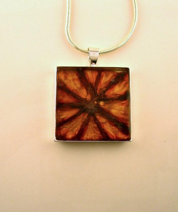 SALE Blood Orange Pendant -  Real Fruit Jewelry