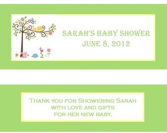 Candy Bar Wrappers - Happi Tree- Colors/Designs Customizable - Baby Shower, First Birthday - You Print