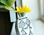 mini mr.and mrs. vase