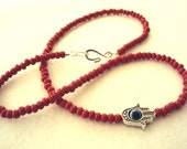 Choker Evil Eye Red Kabbalah Hamsa Necklace