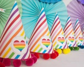 Rainbow Party Hat - Printable
