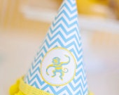 DIY Printable Party Hat - Blue Monkey Party